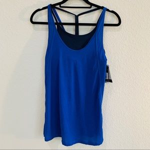 Champion blue tank top with built in bra NWT! S